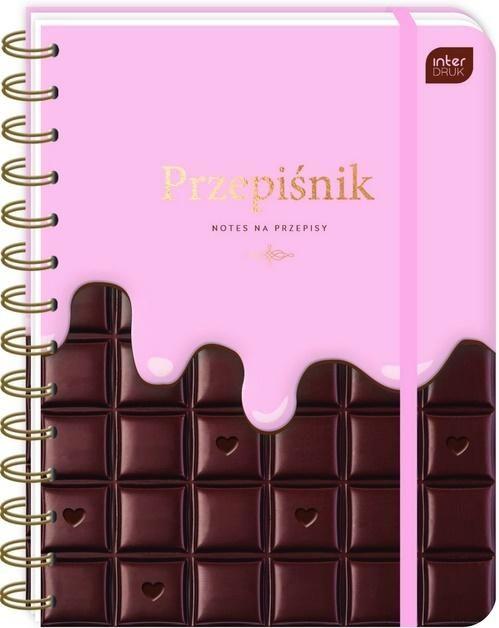 Przepiśnik z gumką A5/240K 90g Chocolate ZAKŁADKA DO KSIĄŻEK GRATIS DO KAŻDEGO ZAMÓWIENIA