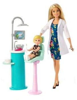 Barbie - Lalka Dentystka z pacjentką i akcesoriami FXP16