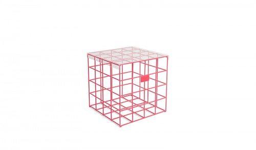 Stolik kawowy Cage Fight Square różowy
