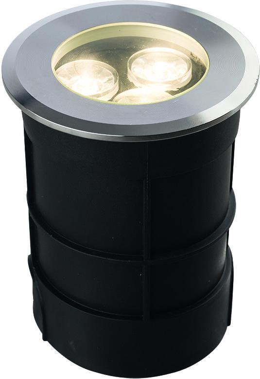 Oprawa najazdowa Picco LED L 9104 Nowodvorski Lighting okrągła oprawa w kolorze srebrnym