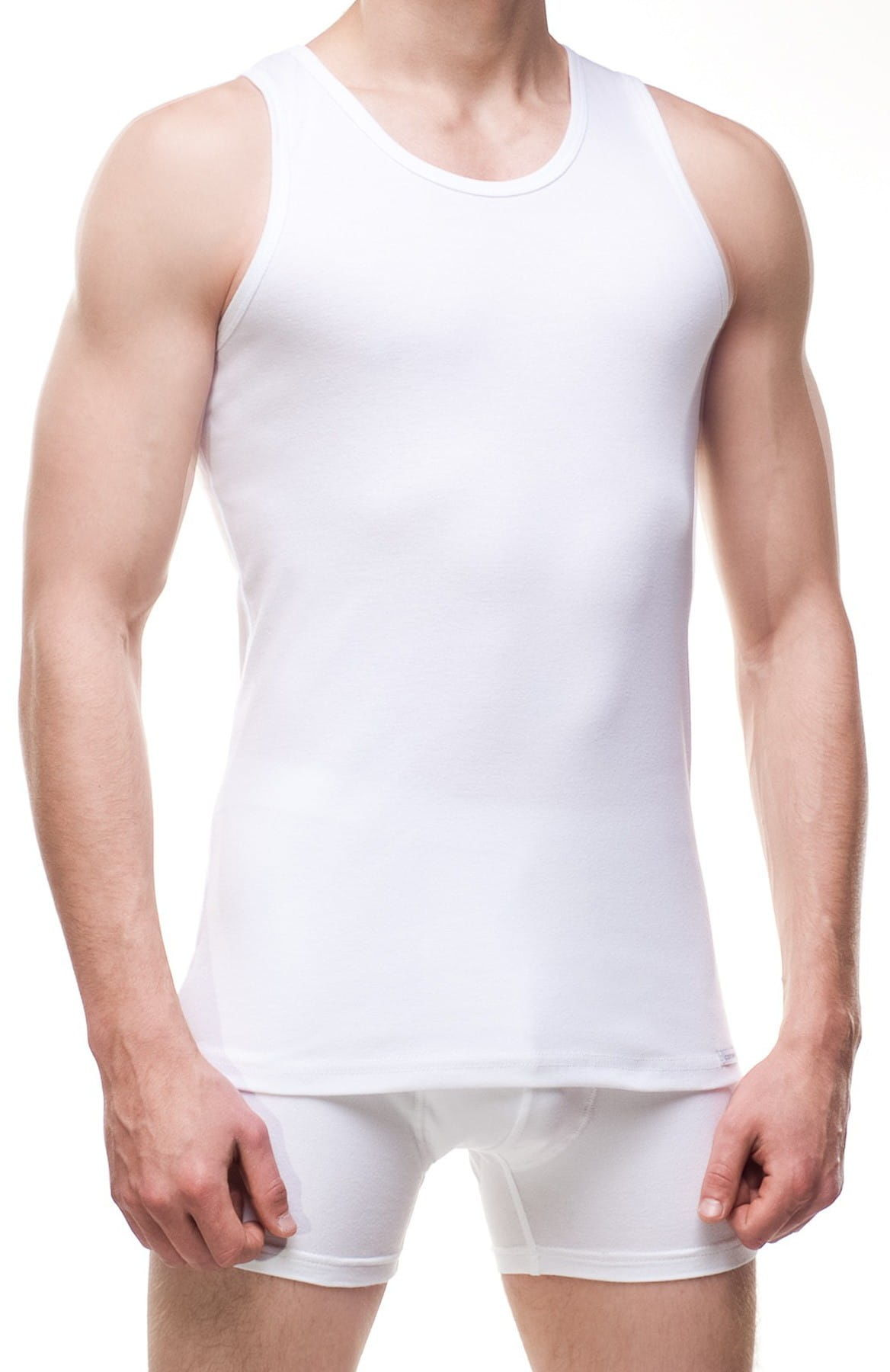Męska koszulka na ramiączkach Cornette Authentic 213 biała