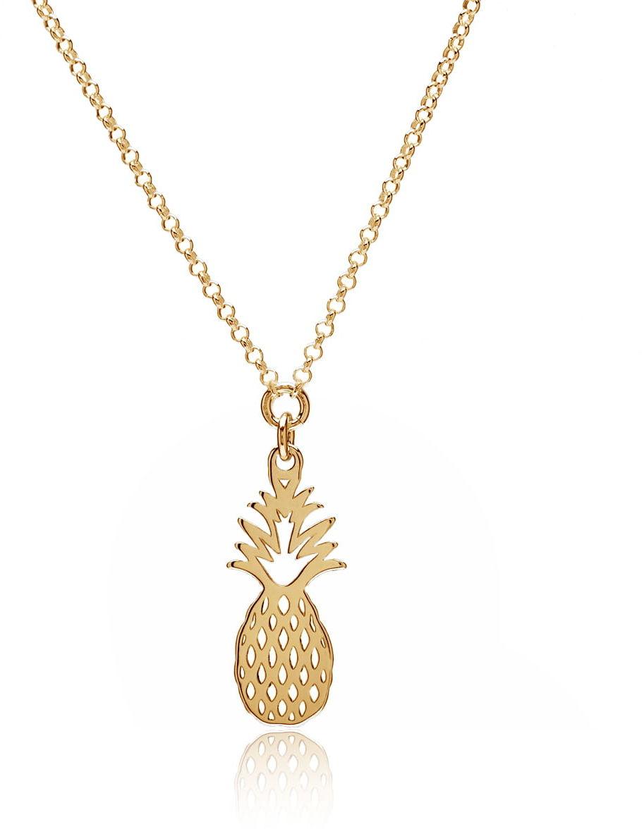 Naszyjnik z zawieszką ananas