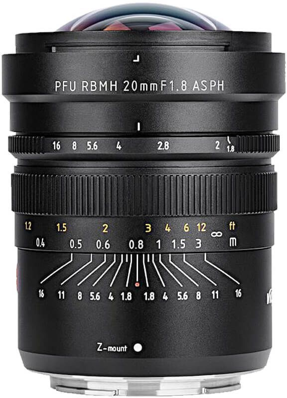 Obiektyw Viltrox PFU RBMH 20mm F1.8 ASPH Nikon Z