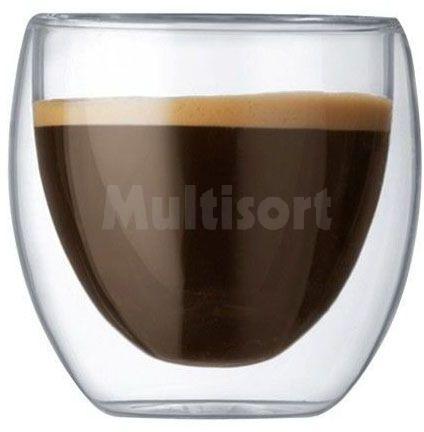 Komplet dwóch szklanek do kawy z podwójną ścianką