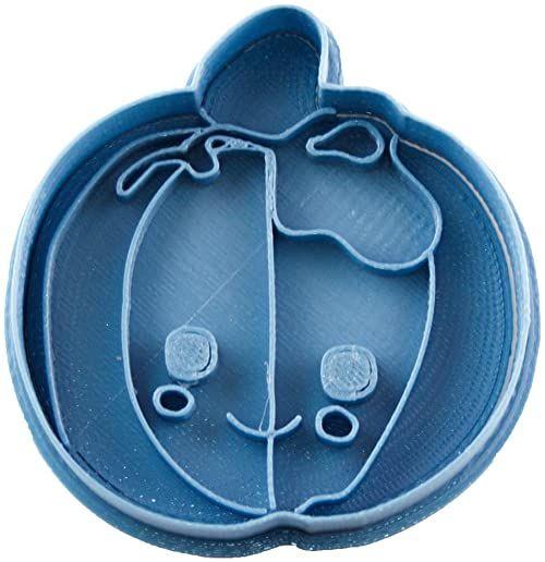 Cuticuter foremka do wycinania w kształcie dyni, niebieska, 8 x 7 x 1,5 cm