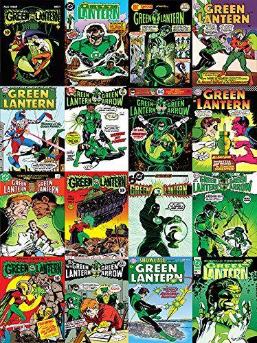 Pyramid International DC komiksy zielone latarnie pokrowce montaż wydruk na płótnie, 60 x 80 cm
