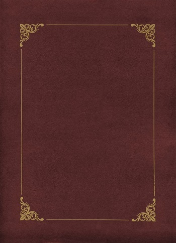 Teczki bordowe ze złotą ramką