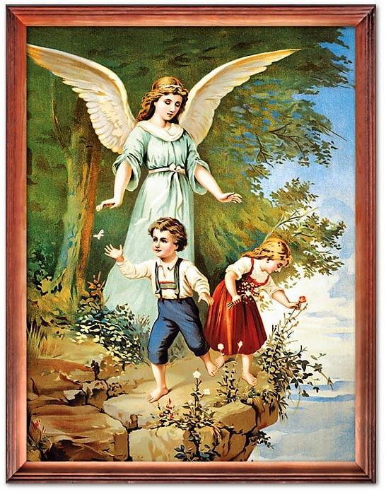 Obraz Anioła Stróża nad urwiskiem