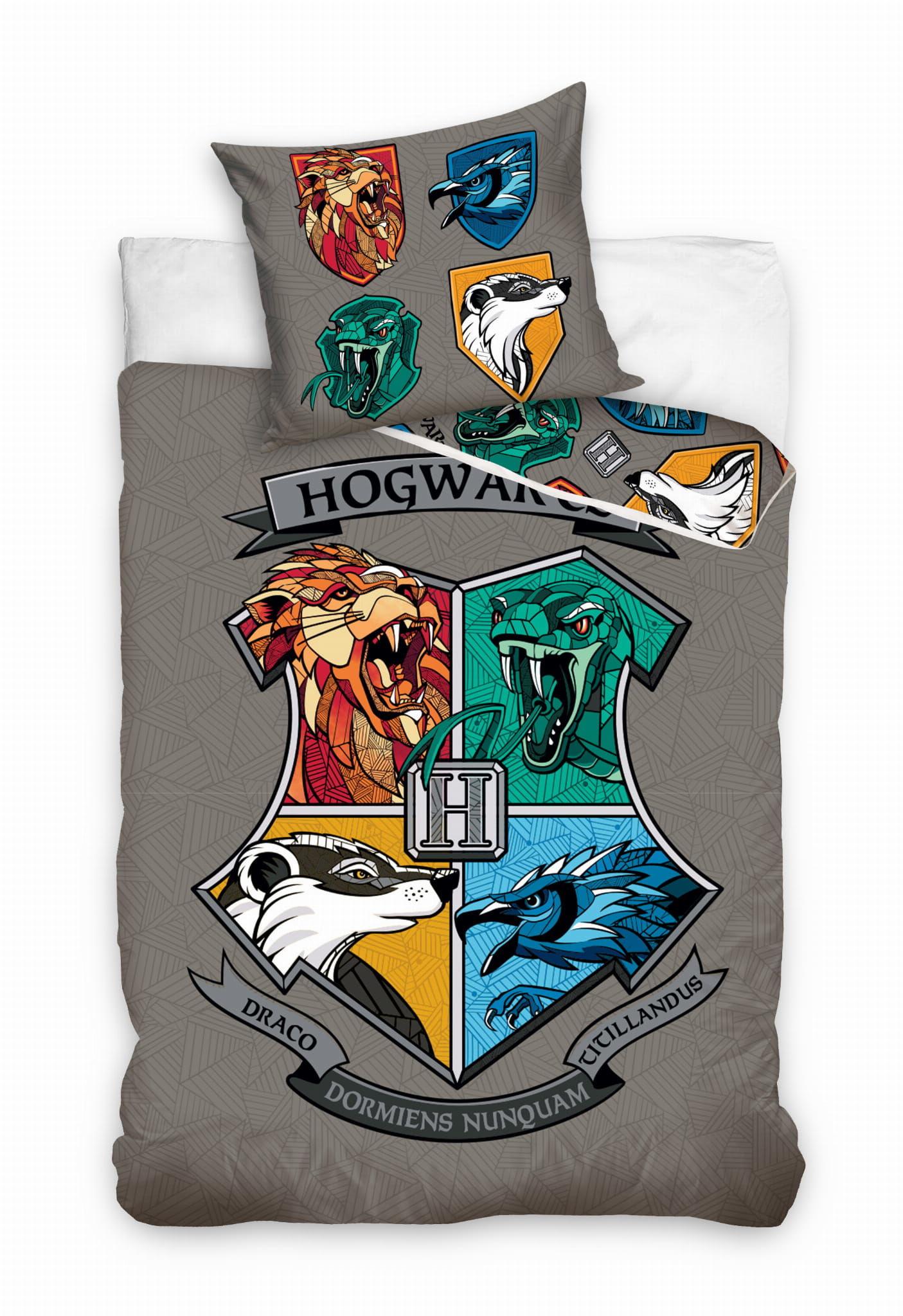 Pościel Harry Potter 160x200 licencyjna bawełniana logo
