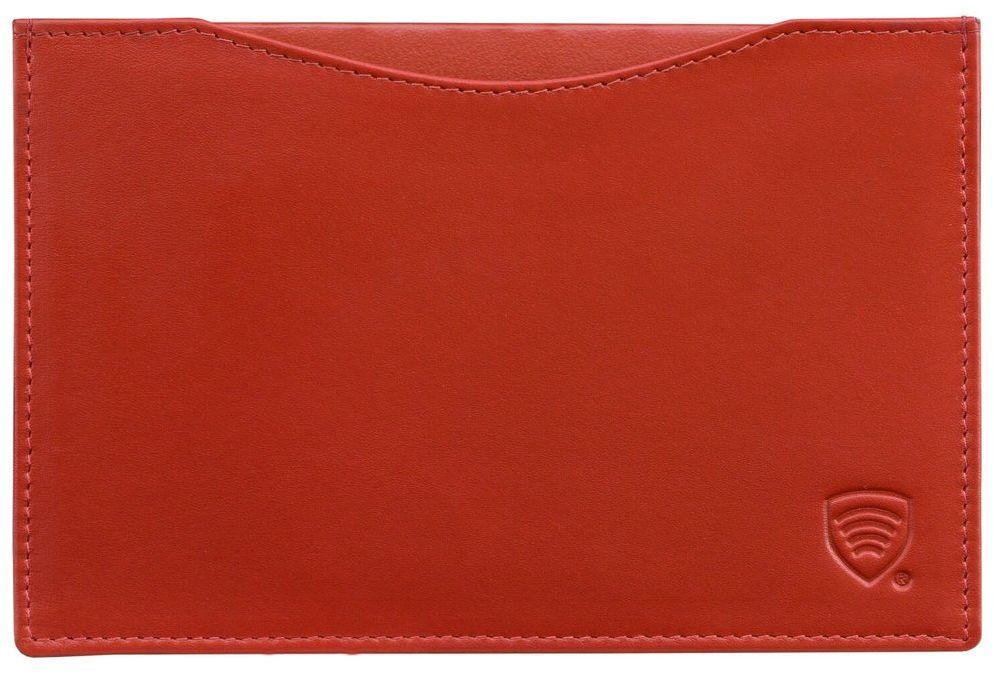 Etui Skórzane Okładka Ochrona Paszport Biometryczny Czerwony