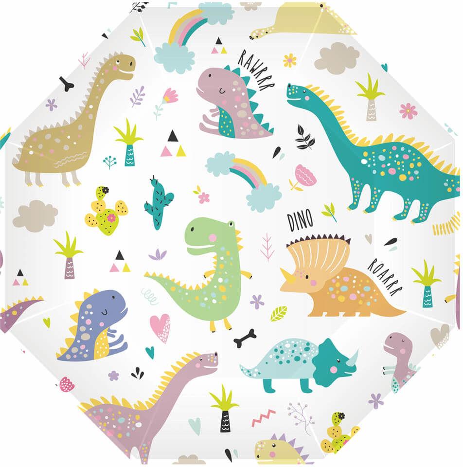 Talerzyki papierowe Dinozaury - 23 cm - 6 szt.