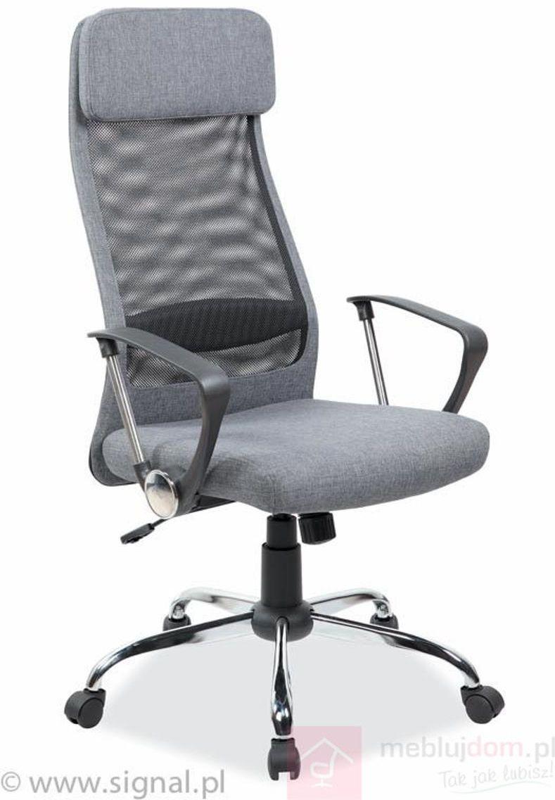 KUPON 10% NA STRONIE  Fotel Q-345 Signal Szary
