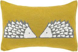 Scion Spike dzianinowa poduszka ochra, bawełna, 30 x 50 x 15 cm