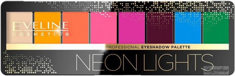 Eveline Cosmetics - Eyeshadow Professional Palette - Paleta 8 cieni do powiek - 06 - NEON LIGHTS