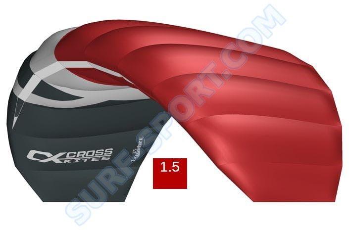 Latawiec Treningowy z Barem Cross Kites Boarder V2-1.5 2020-Red