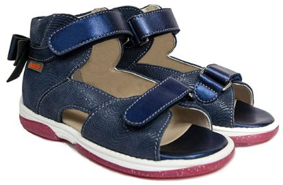Dziewczęce profilaktyczne sandały Memo z podeszwą diagnostyczną, średnio wysokie, DLA ELEGANTEK (Juliet)