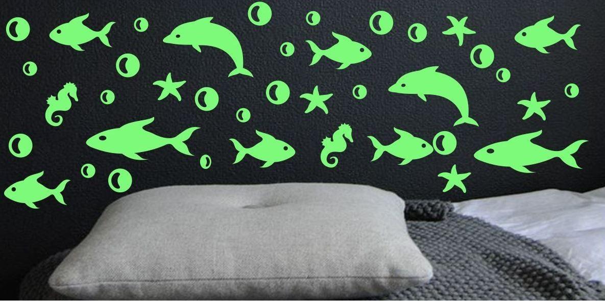 Naklejka świecąca w nocy rybki