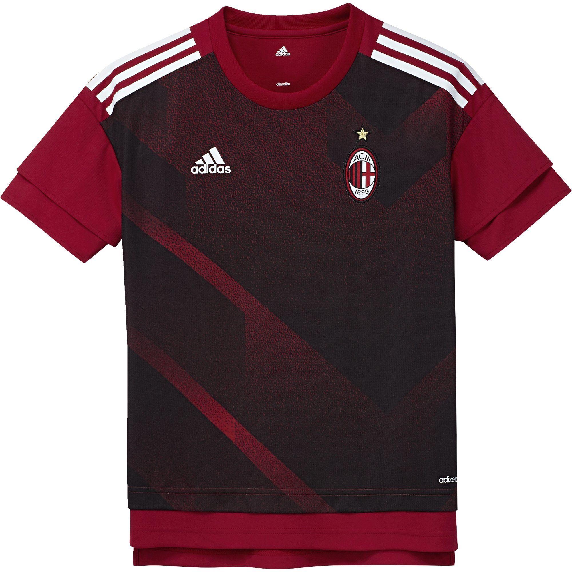 adidas Chłopięcy Ac Milan H Preshi Y T-shirt Czerwony Size 164