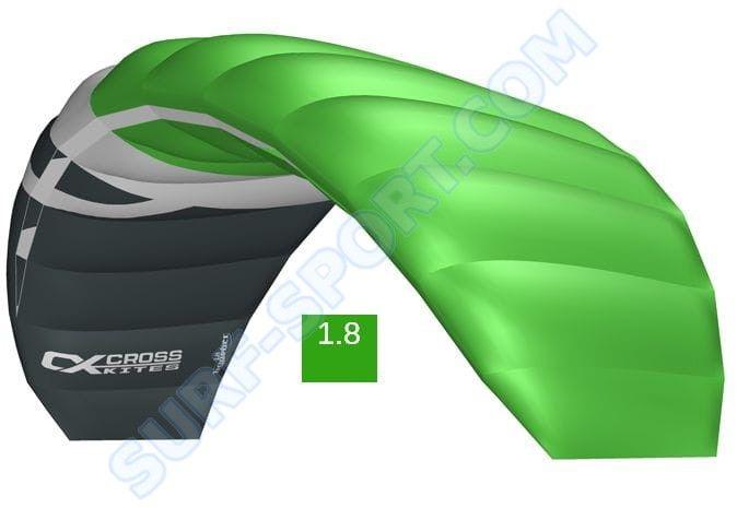 Latawiec Treningowy z Barem Cross Kites Boarder V2-1.8 2020-Green