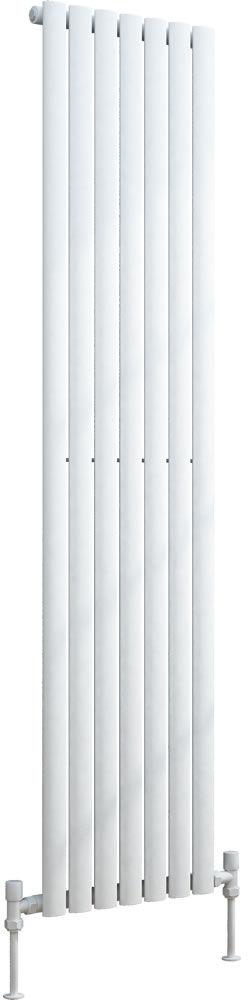 Grzejnik pionowy dekoracyjny VERTICA 420/1800 mm pojedynczy - biały