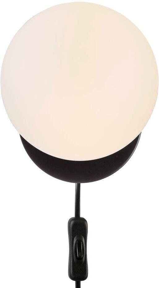 Kinkiet Lilly 48891003 Nordlux biało-czarna oprawa ścienna w nowoczesnym stylu