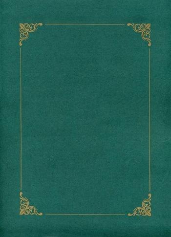 Teczki zielone ze złotą ramką