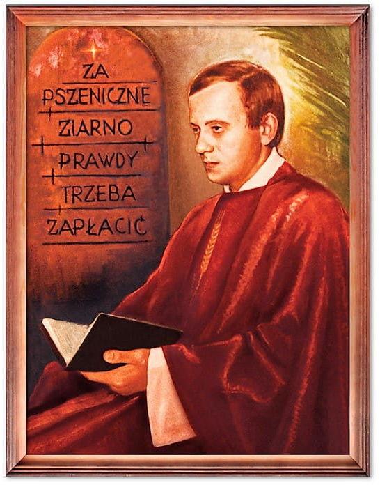 Obraz bł. ks. Jerzy Popiełuszko