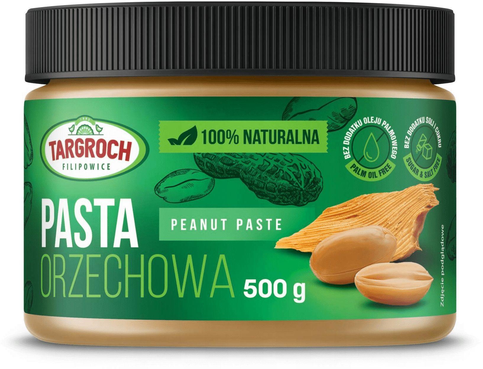 Pasta Orzechowa Arachidowa 100% Naturalna 500 g TARGROCH