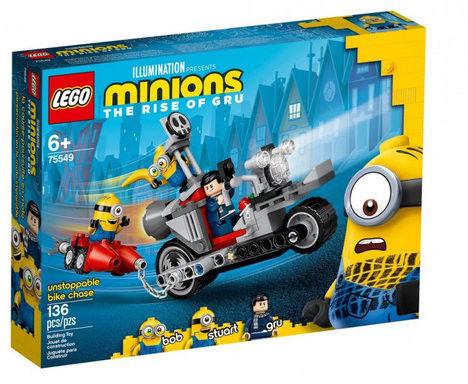LEGO Minions - Niepowstrzymany motocykl ucieka 75549