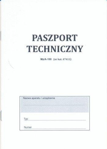 Paszport techniczny [Mz/A-100]