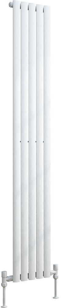 Grzejnik pionowy dekoracyjny VERTICA 300/1800 mm pojedynczy - biały