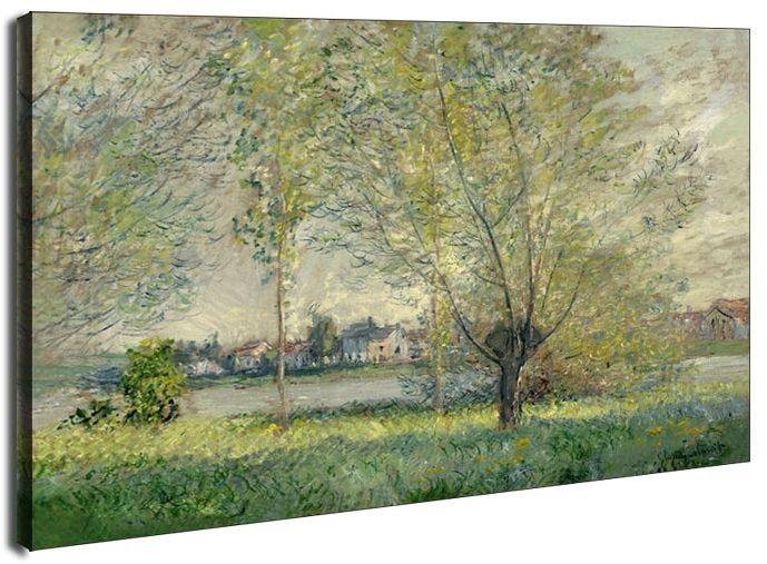 The willows, claude monet - obraz na płótnie wymiar do wyboru: 80x60 cm
