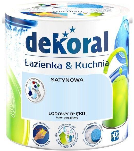 Farba satynowa Dekoral Łazienka i Kuchnia lodowy błękit 2,5 l