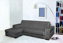 Modna wodoodporna i podwójna osłona na sofę, ciemnoszara 240 cm