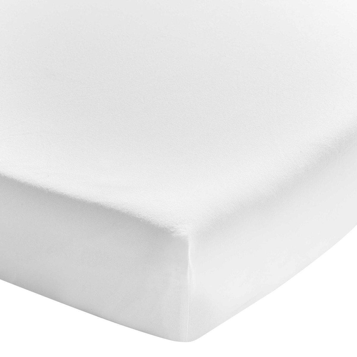 Prześcieradło bawełniane ze ściągaczem Essix Soft Line Blanc