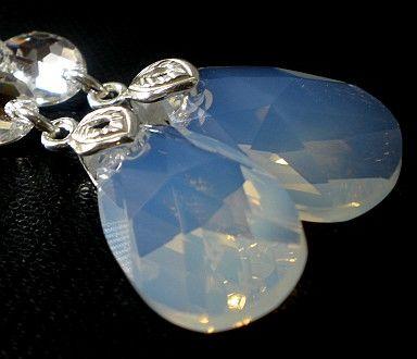 Kryształy długie kolczyki Certyfikat SREBRO