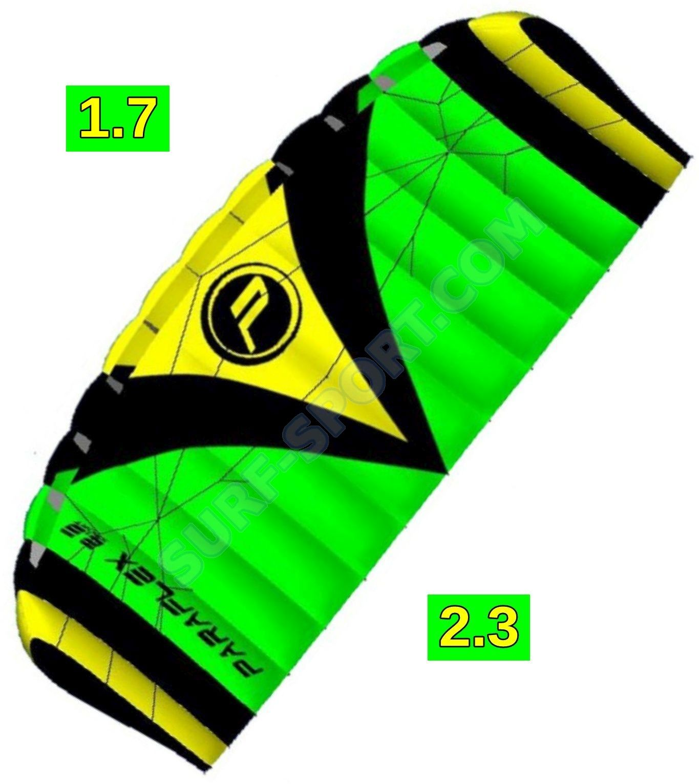 Latawiec Treningowy Z Barem Wolkenstürmer Paraflex Sport 2020 Green/Yellow