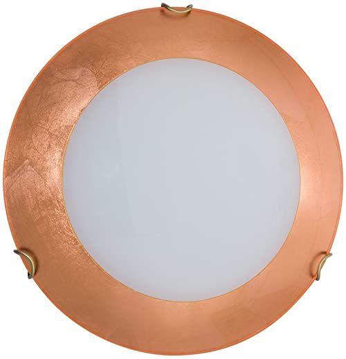 Austrolux A1306.12.5.Cu A++ do E, lampa sufitowa, szkło, 60 W, E27, 47 x 47 x 20 cm