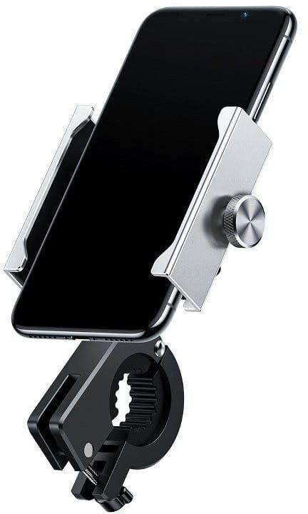 Uchwyt do telefonu Baseus Knight do motocyklu / roweru / hulajnogi / skutera (srebrny)