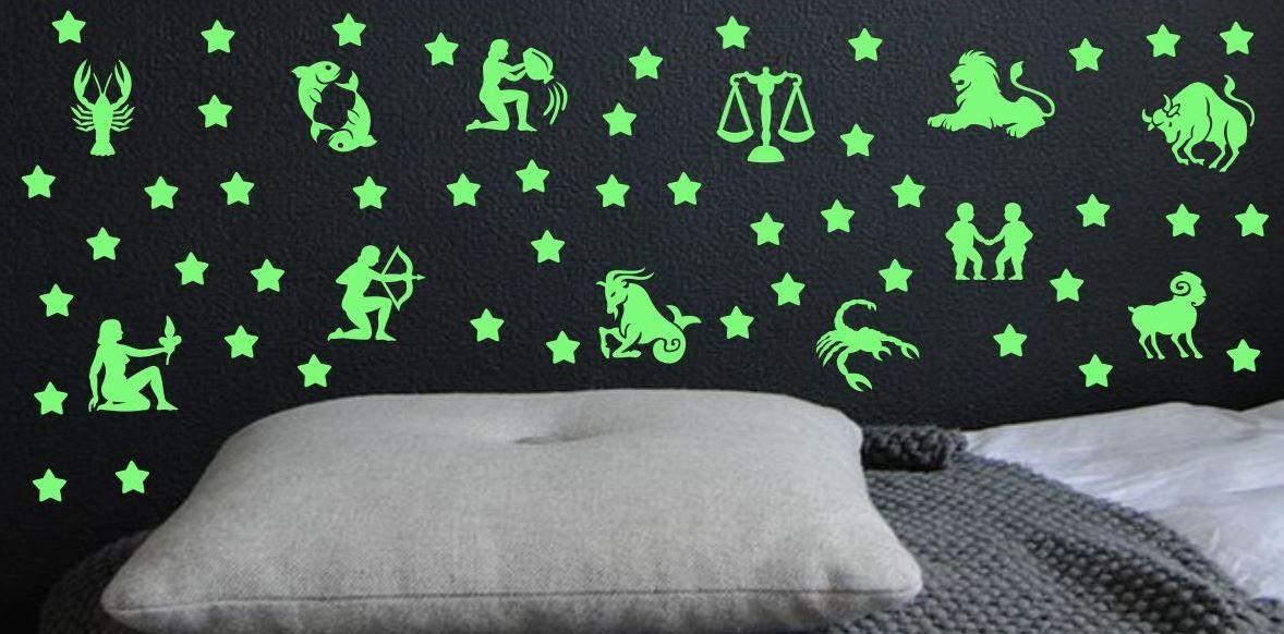 Naklejka świecąca w nocy znaki zodiaku