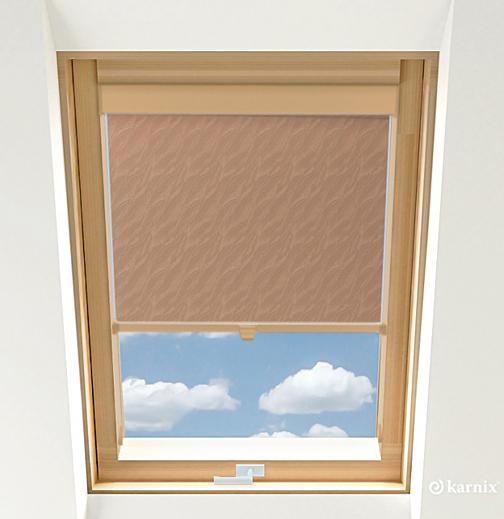 Roleta do okien dachowych - AQUA - Tan / Sosna
