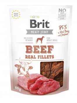 Brit Jerky Beef Fillets Wołowina 80 g