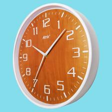 Zegar ścienny biały drewniana tarcza #1