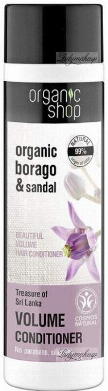 ORGANIC SHOP - BEAUTIFUL VOLUME HAIR CONDITIONER - Zwiększający objętość balsam / odżywka do włosów - Skarb Sri Lanki - 280 ml
