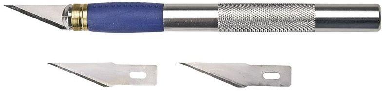 Nóż modelarski 155 mm 3 ostrza metalowy uchwyt 17B703