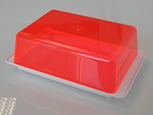 Kimmel Pudełko wielofunkcyjne do wycinania, tworzywo sztuczne, białe/przezroczyste czerwone
