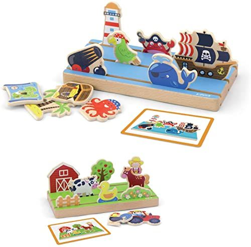VIGAtoys Viga Toys 50183 Learning Space and Distance, wielokolorowy
