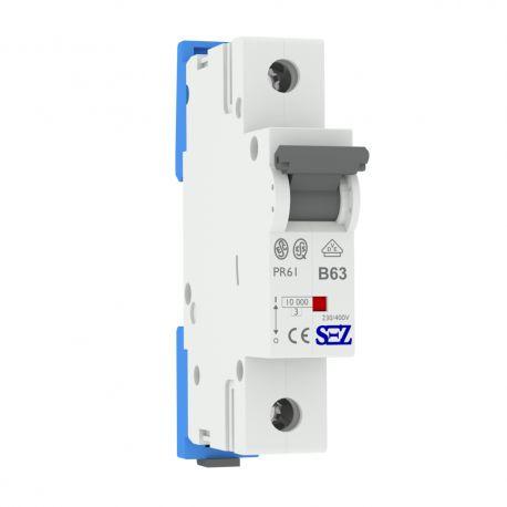 B63A 1P 10kA Wyłącznik nadprądowy bezpiecznik Typ S eska PR61 SEZ 0159