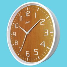 Zegar ścienny biały drewniana tarcza #2