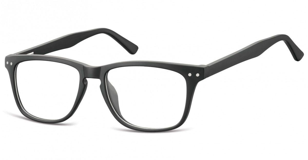 Okulary oprawki korekcyjne Nerdy zerówki Sunoptic CP136 czarne